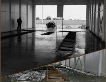 промышленный бетонный пол на СТО